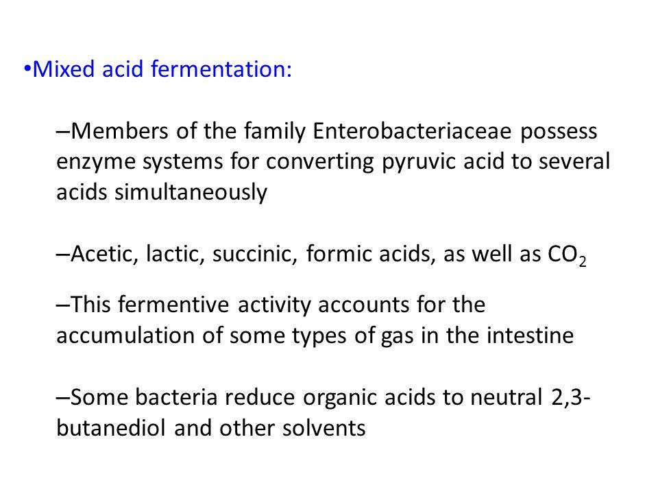 Mixed acid fermentation: