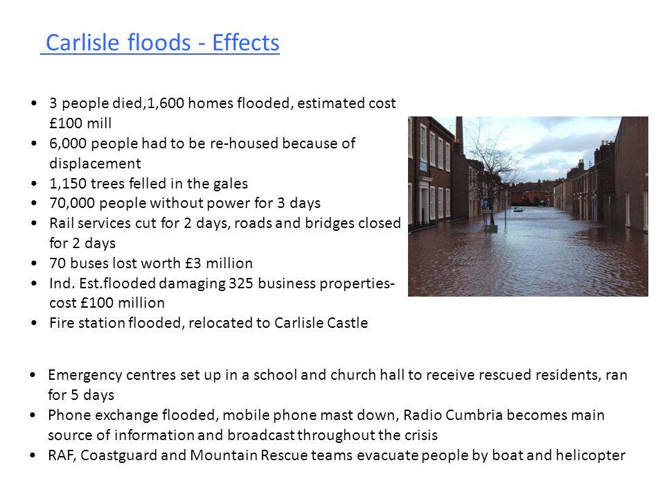 Carlisle floods - Effects