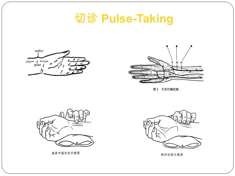 切诊 Pulse-Taking cun guan chi