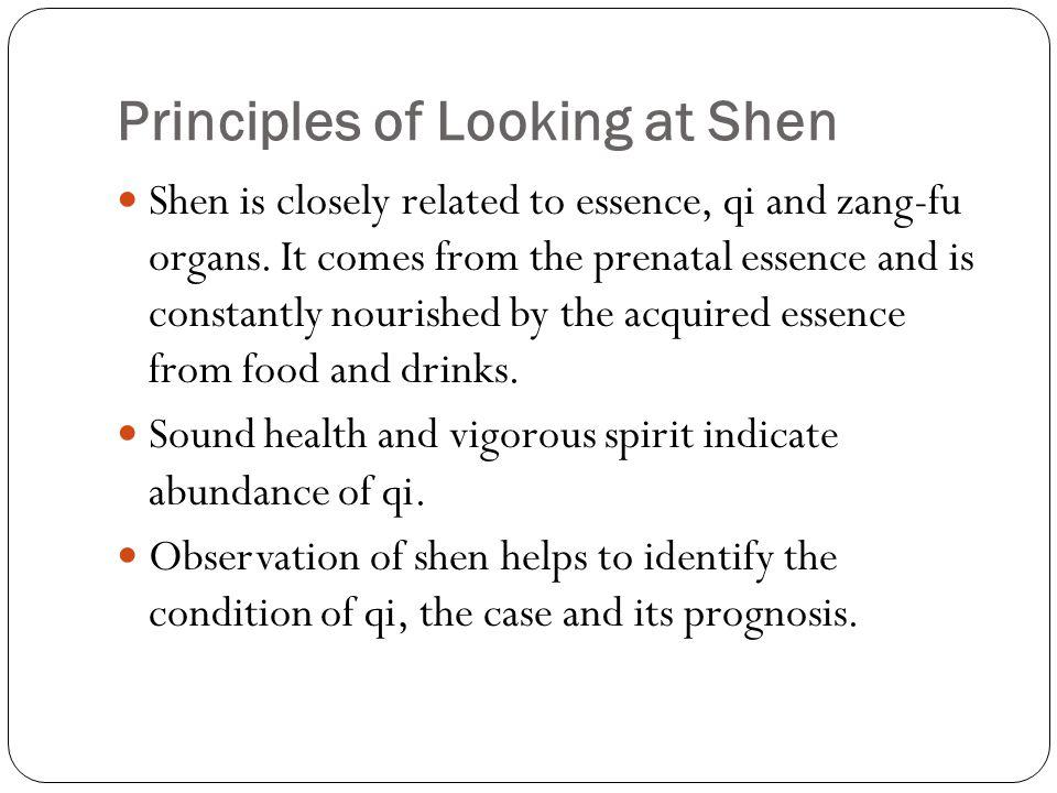 Principles of Looking at Shen