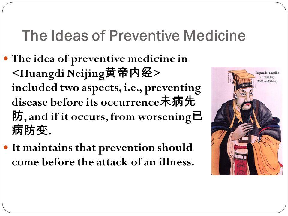 The Ideas of Preventive Medicine