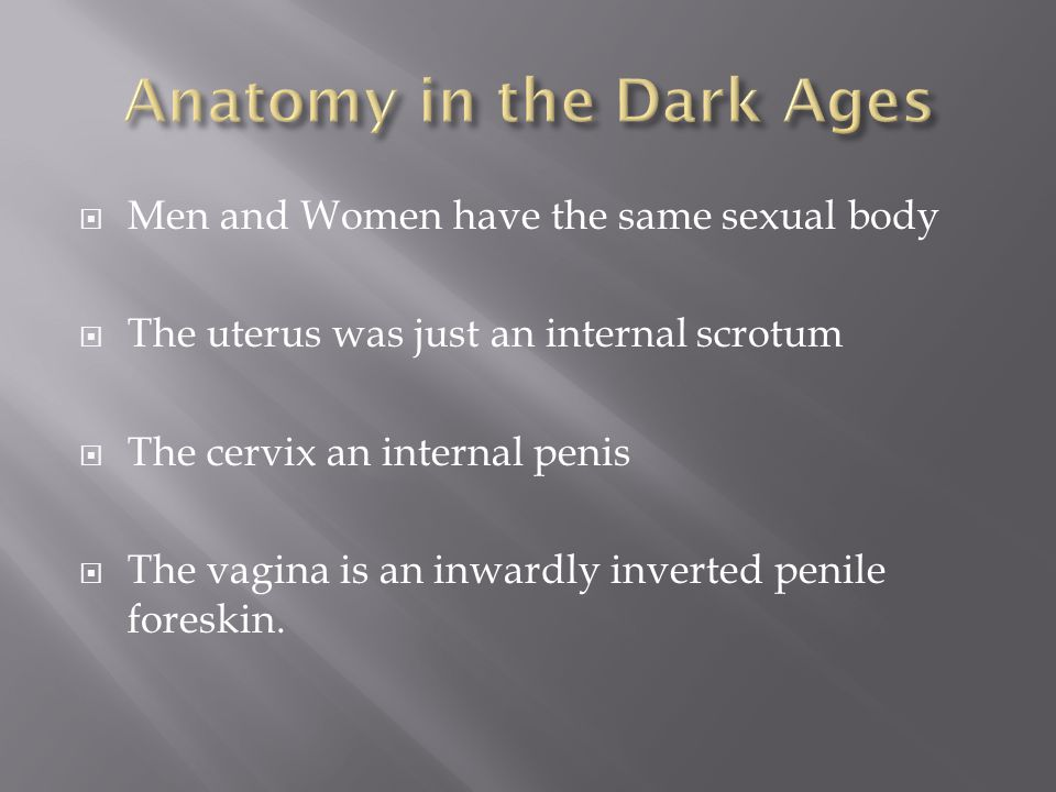 Anatomy in the Dark Ages