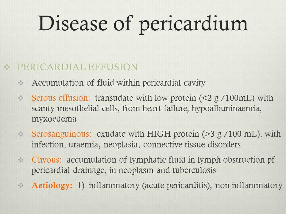 Disease of pericardium