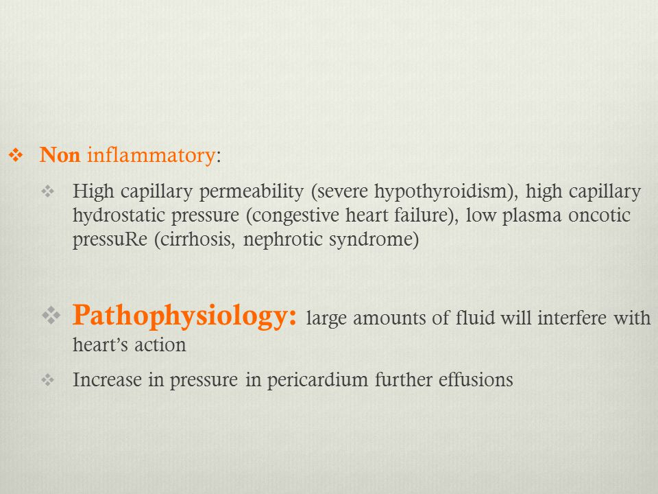Non inflammatory: