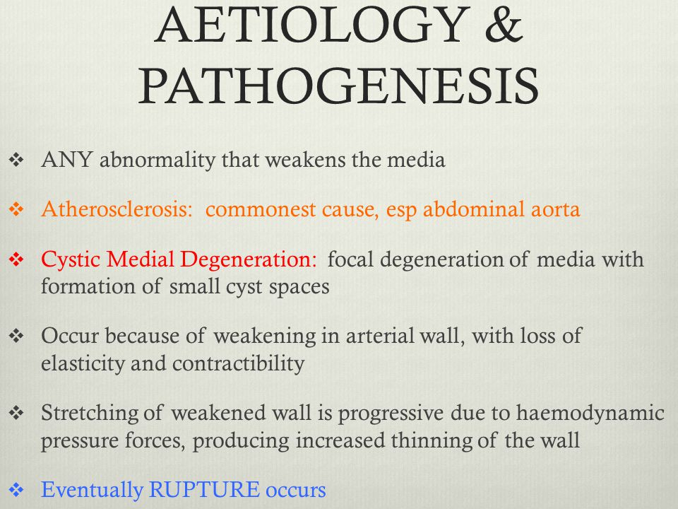 AETIOLOGY & PATHOGENESIS