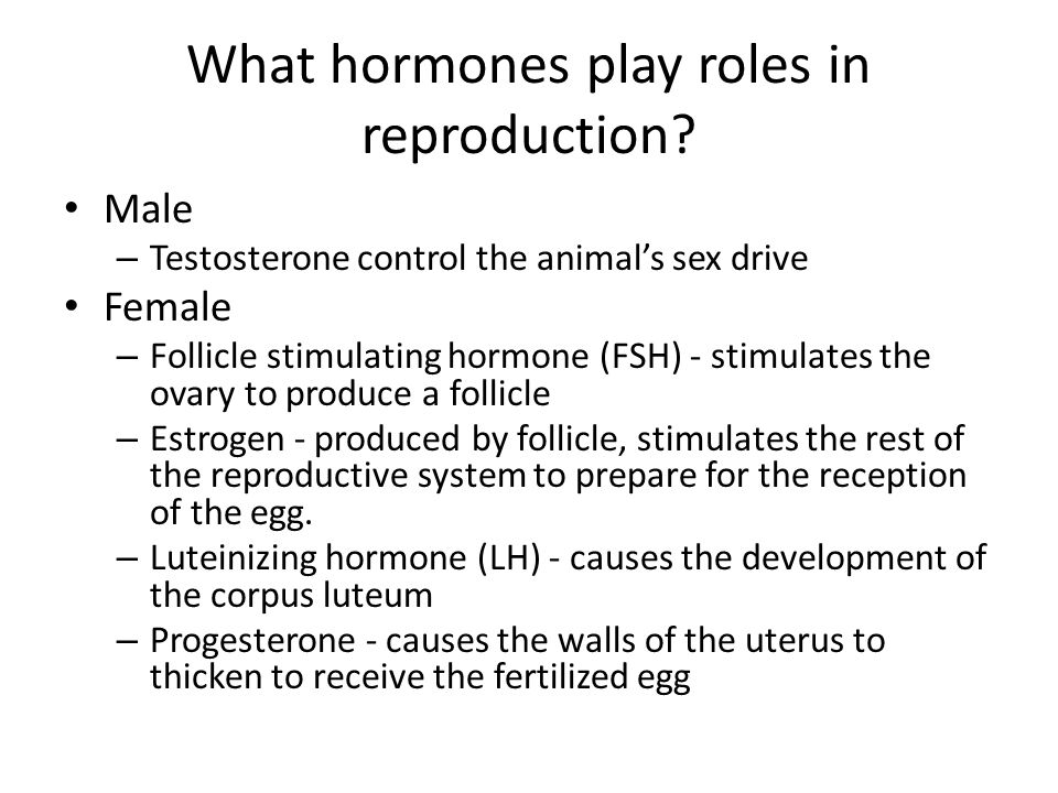 What hormones play roles in reproduction