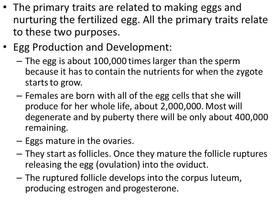 Egg Production and Development: