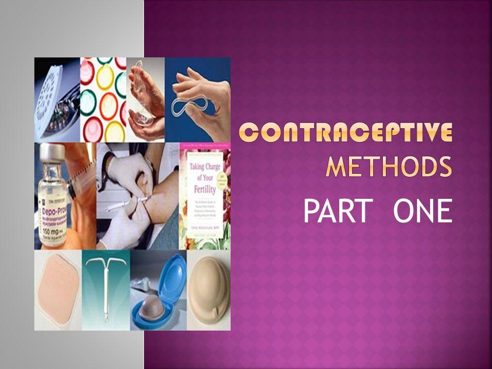 CONTRACEPTIVE METHODS