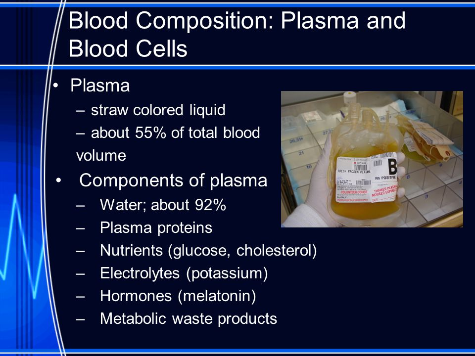Blood Composition: Plasma and Blood Cells