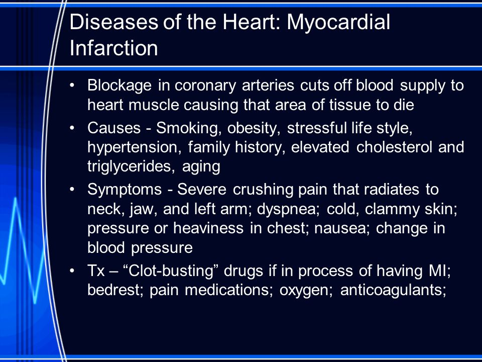 Diseases of the Heart: Myocardial Infarction