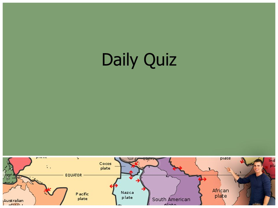 Daily Quiz Put into Responders and/or project using SMART notebook.