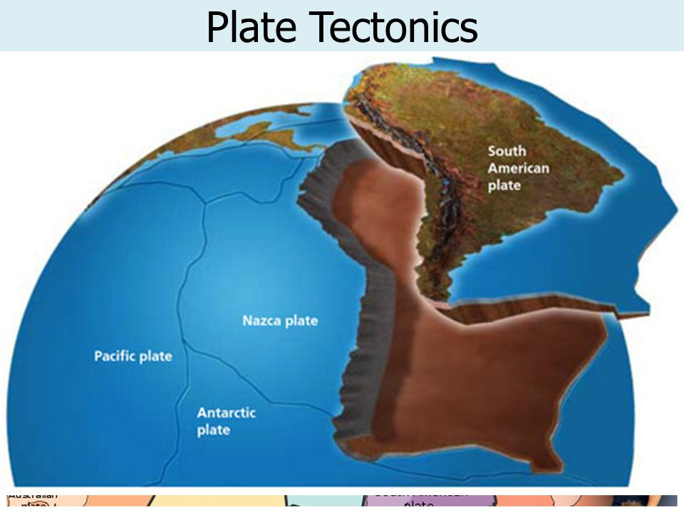 Plate Tectonics The theory of Continental Drift led to the theory of PLATE TECTONICS.