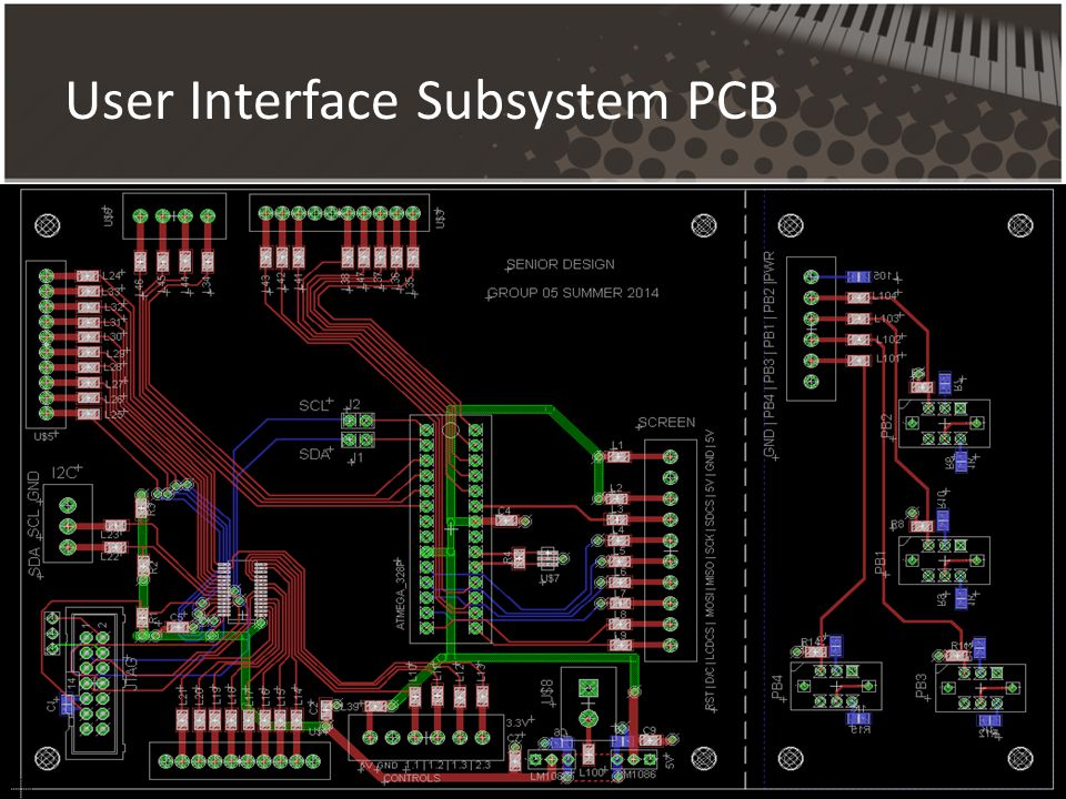 User Interface Subsystem PCB
