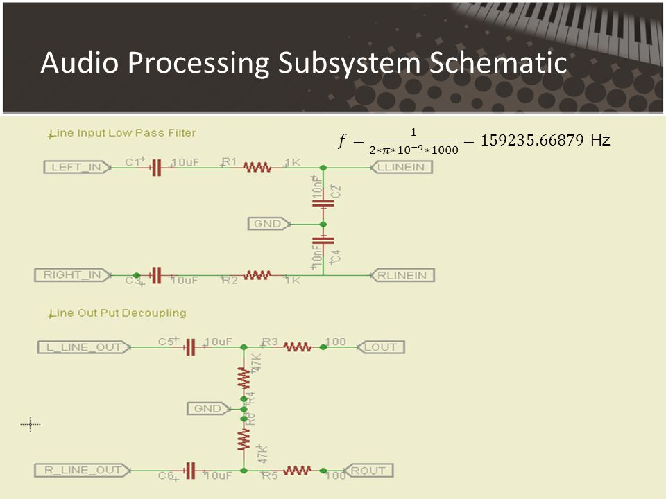 Audio Processing Subsystem Schematic