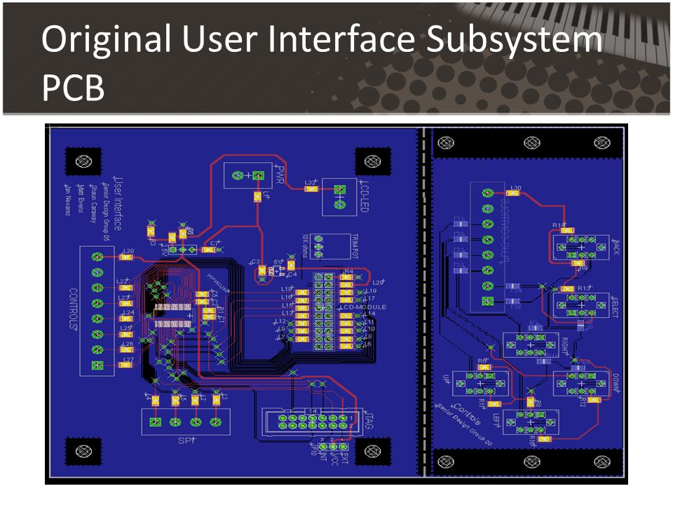 Original User Interface Subsystem PCB