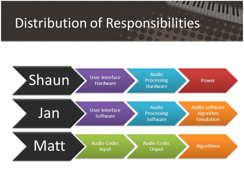Distribution of Responsibilities