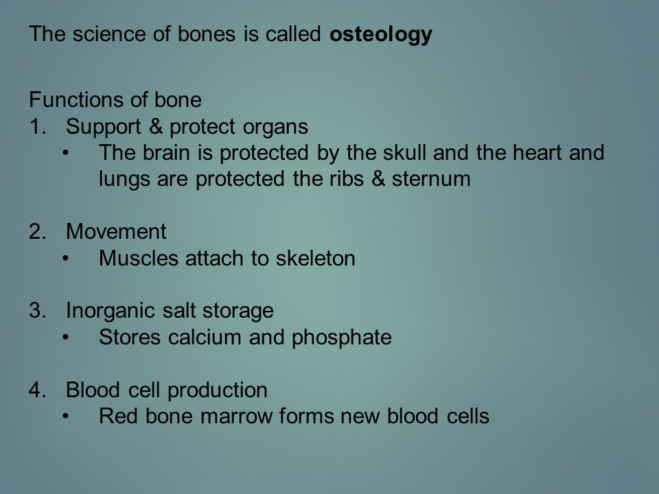 The science of bones is called osteology