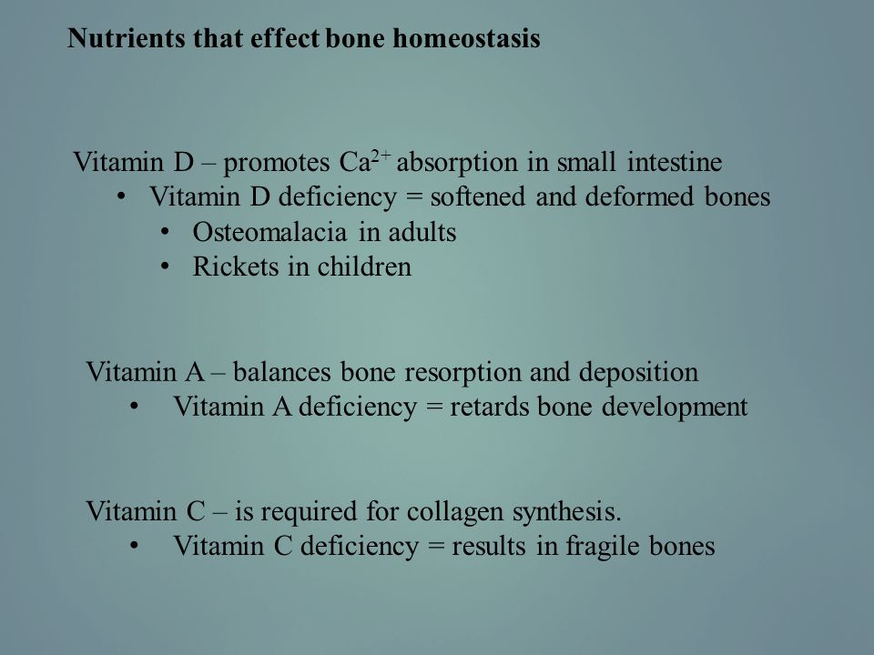 Nutrients that effect bone homeostasis