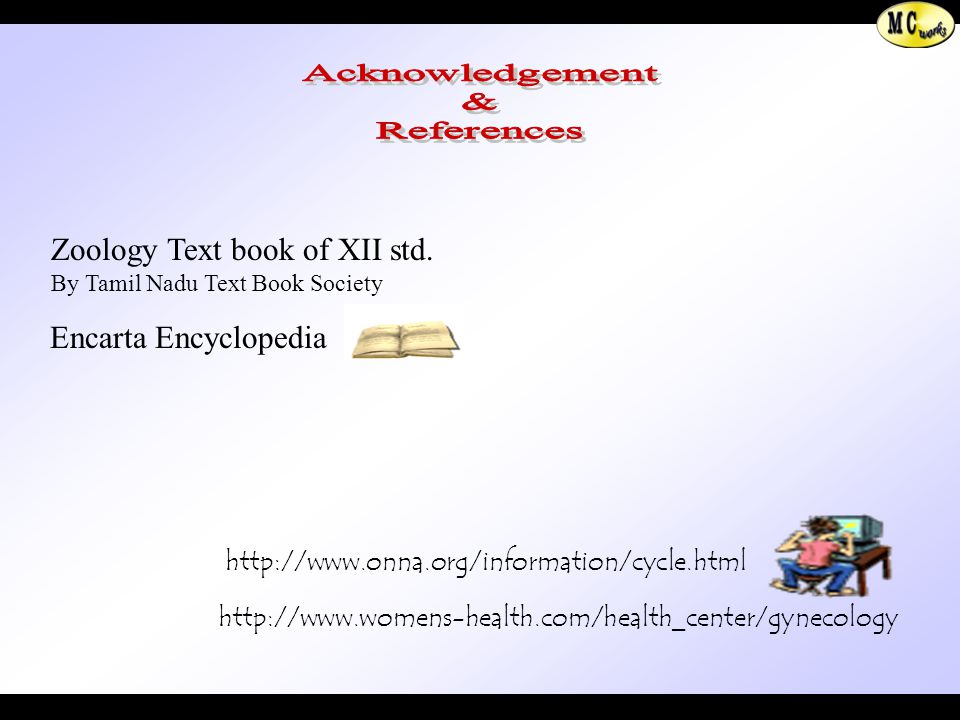 Acknowledgement & References