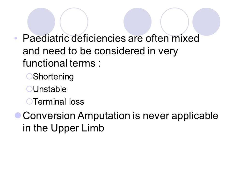 Conversion Amputation is never applicable in the Upper Limb