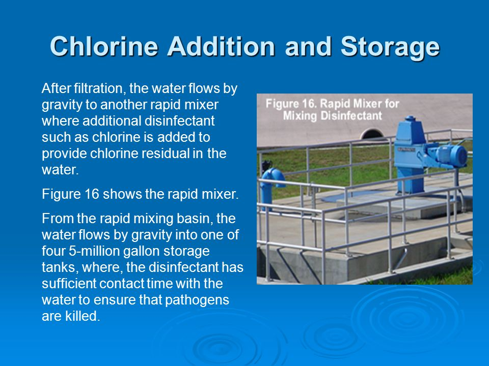 Chlorine Addition and Storage