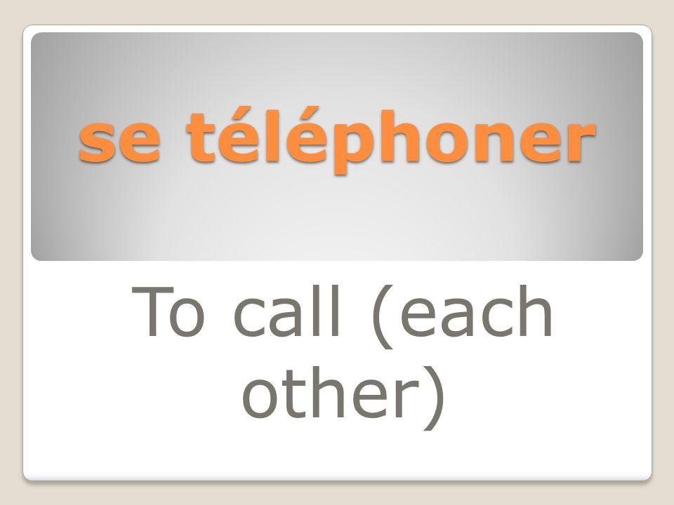 se téléphoner To call (each other)