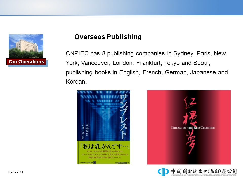 Overseas Publishing Our Operations.