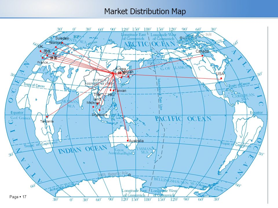 Market Distribution Map