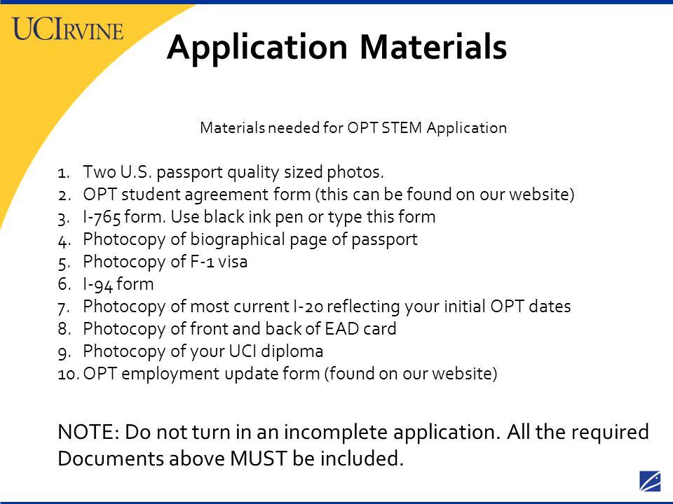Application Materials