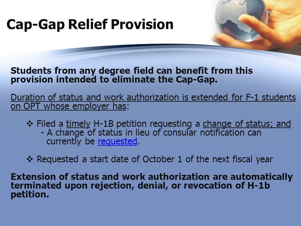 Cap-Gap Relief Provision