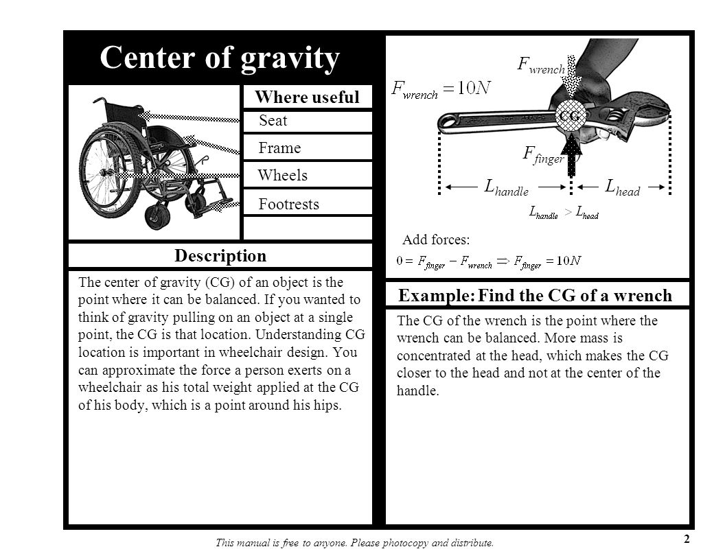 Example: Find the CG of a wrench