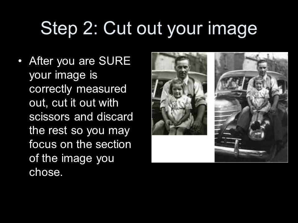 Step 2: Cut out your image