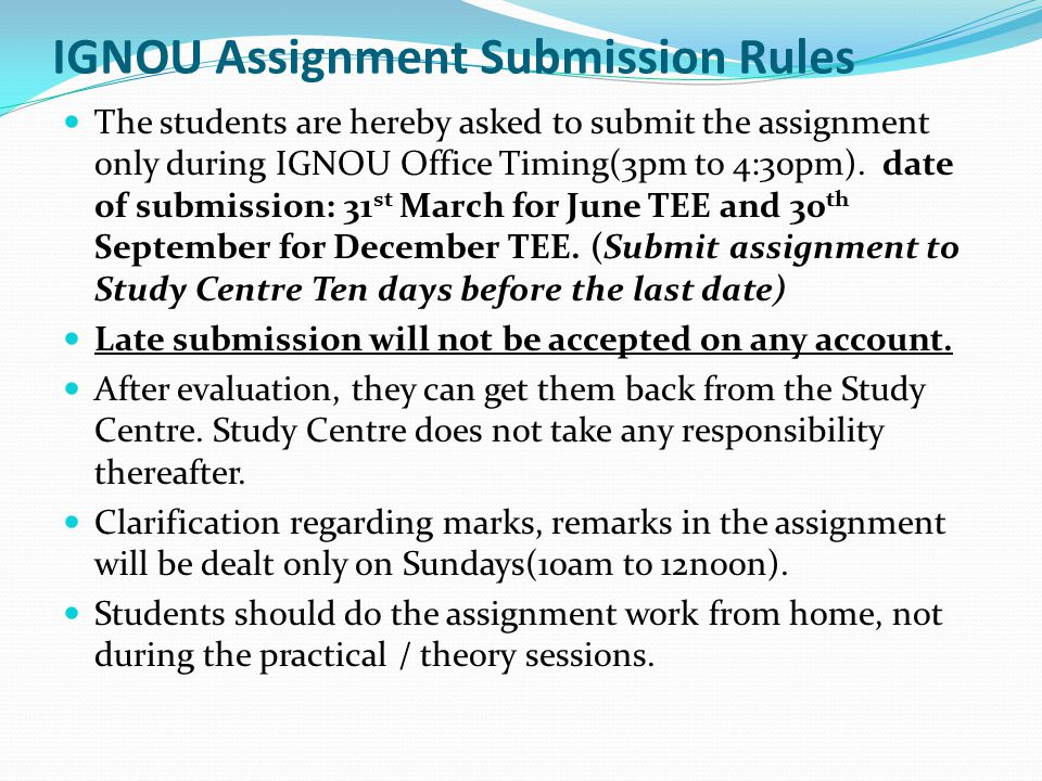 assignment paper of ignou