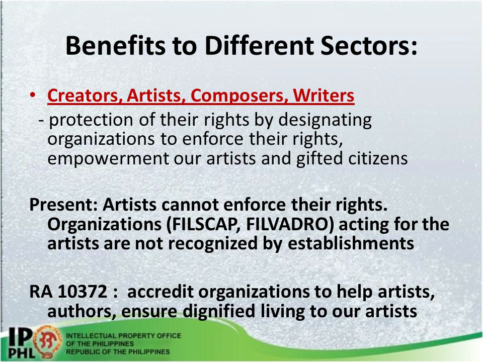 Benefits to Different Sectors: