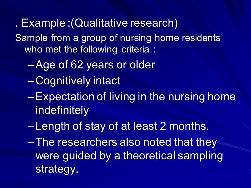 . Example ):Qualitative research)