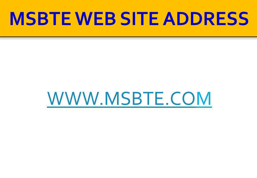 MSBTE WEB SITE ADDRESS WWW.MSBTE.COM