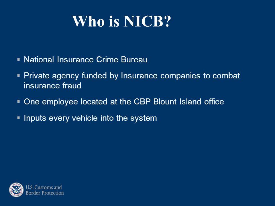 Who is NICB National Insurance Crime Bureau