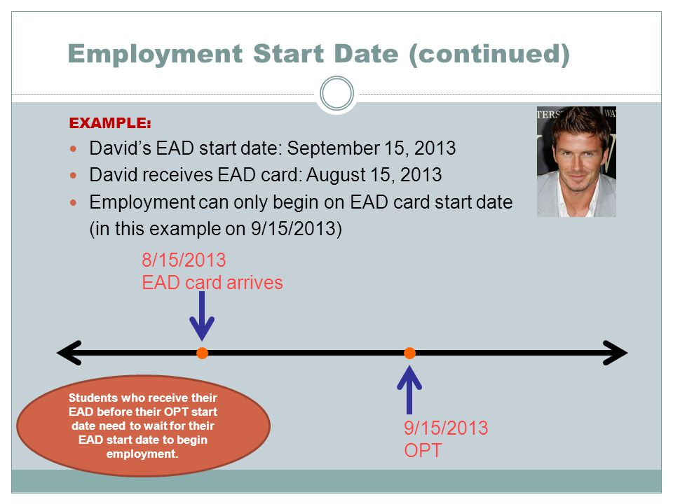 Employment Start Date (continued)