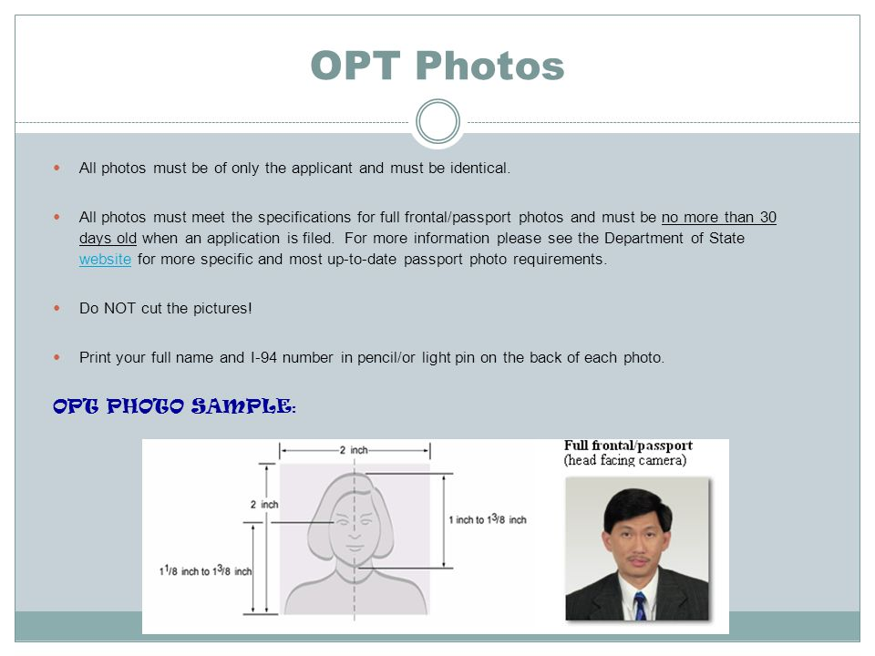 OPT Photos OPT PHOTO SAMPLE:
