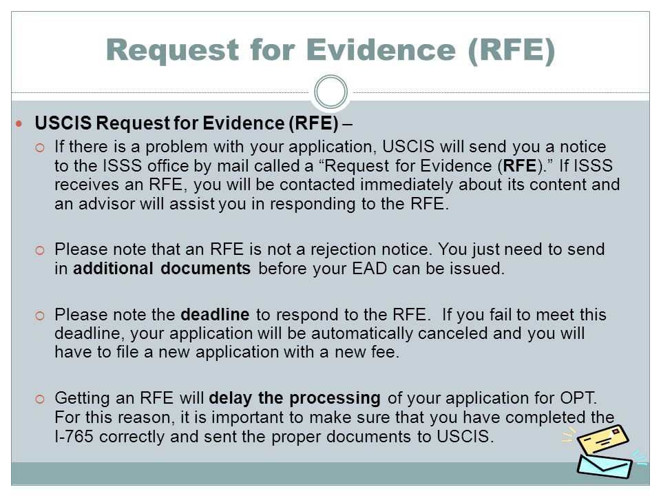 Request for Evidence (RFE)