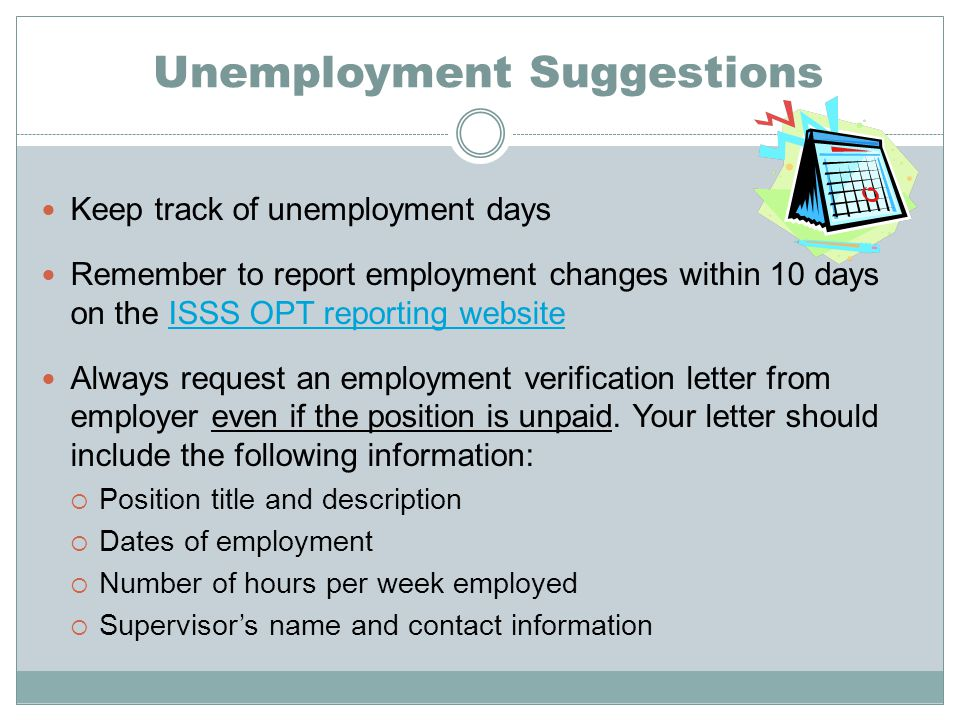 Unemployment Suggestions
