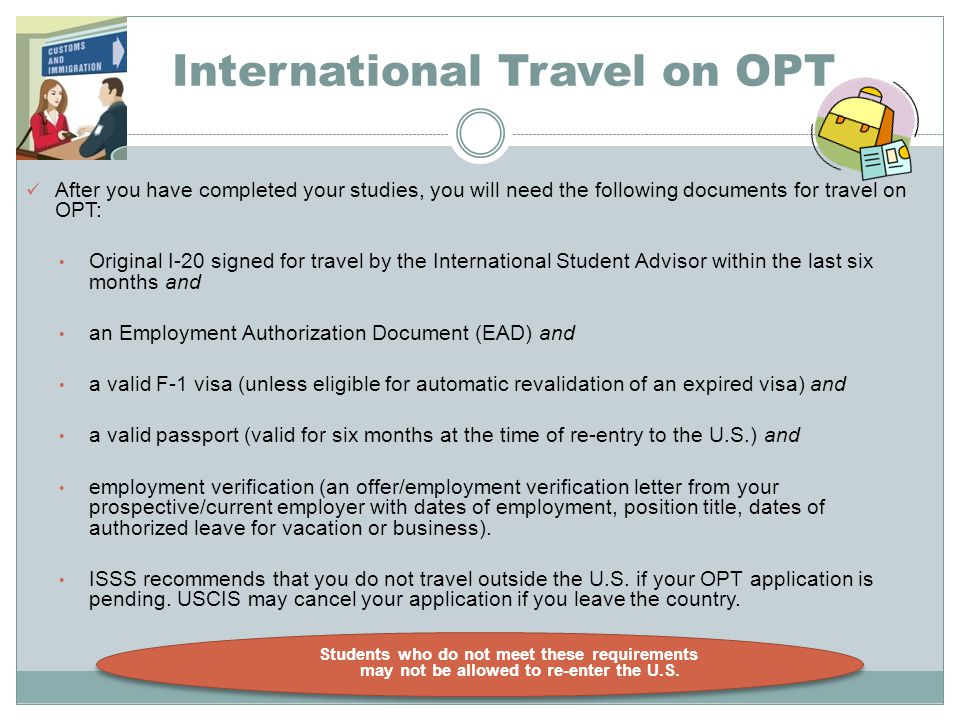 International Travel on OPT