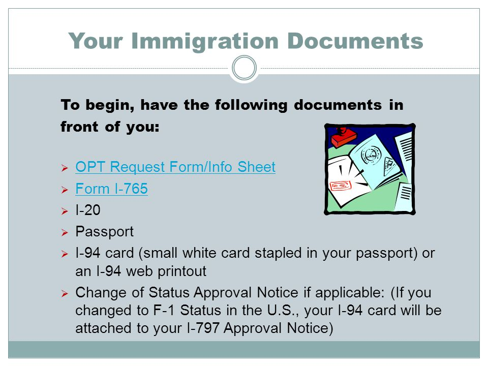 Your Immigration Documents