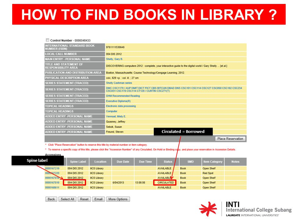 HOW TO FIND BOOKS IN LIBRARY