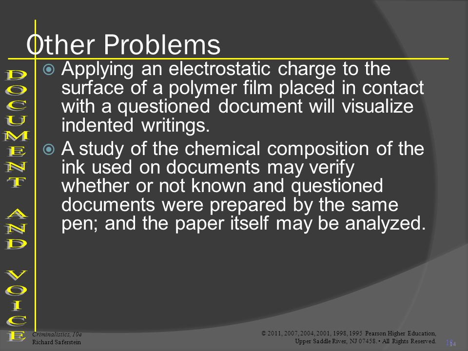 Other Problems DOCUMENT AND VOICE