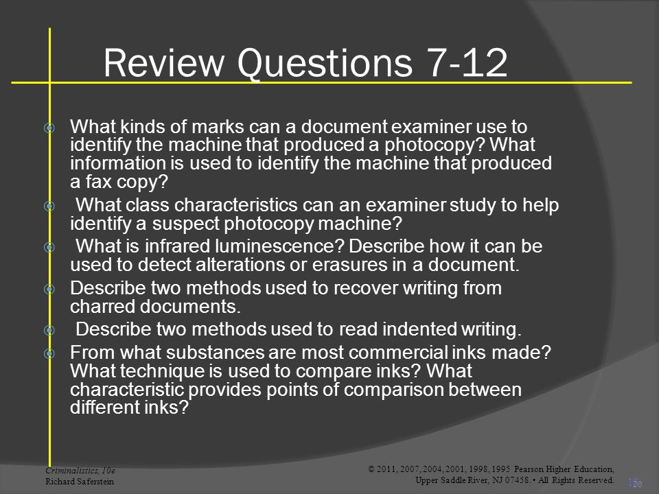 Review Questions 7-12