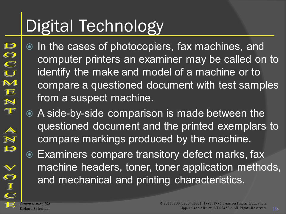 Digital Technology DOCUMENT AND VOICE