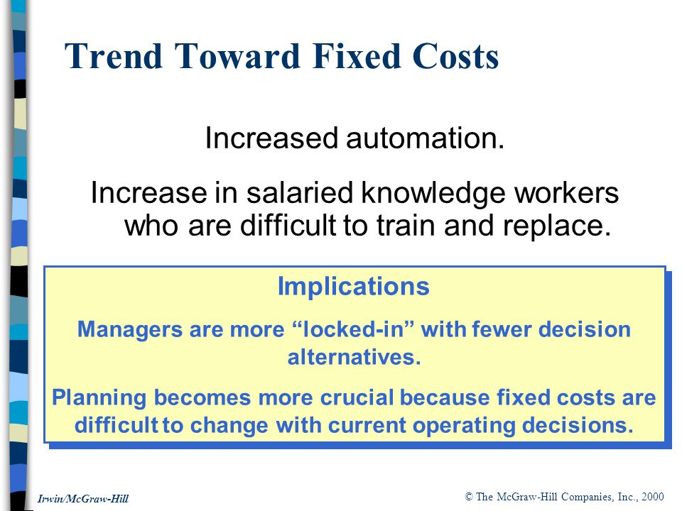 Trend Toward Fixed Costs
