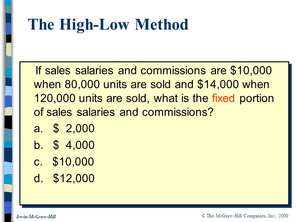 The High-Low Method