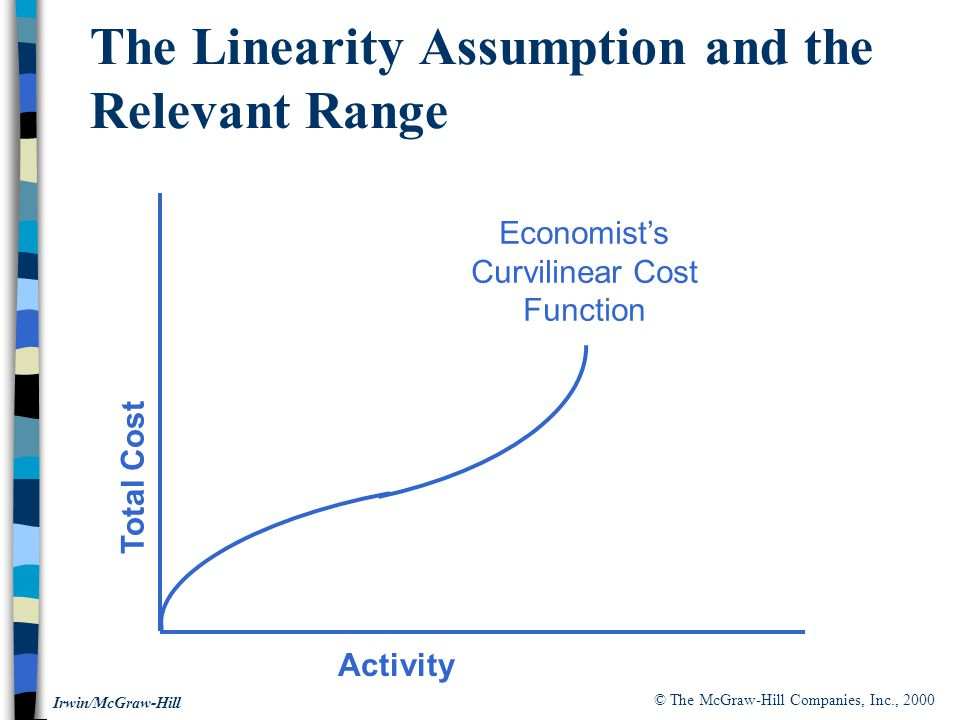The Linearity Assumption and the Relevant Range